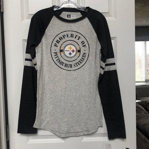 Men's Pittsburgh Steelers football long sleeve tee